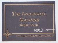 The Industrial Machine Title Plaque, Los Alamos Public Art Collection