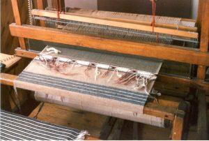 Rio Grande Blanket on Loom