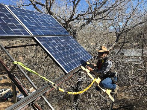 Tower of Power III: Raising the solar panels