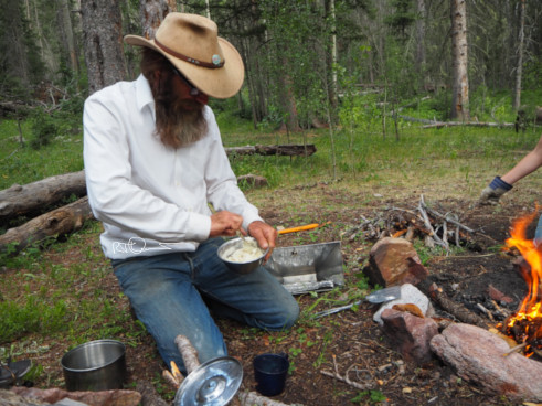 Baking biscuits in the wilderness